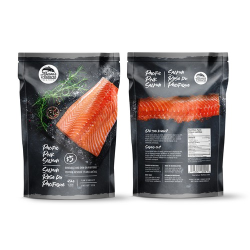 Salmon packaging design