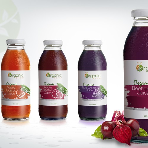 Product label for fruit juices