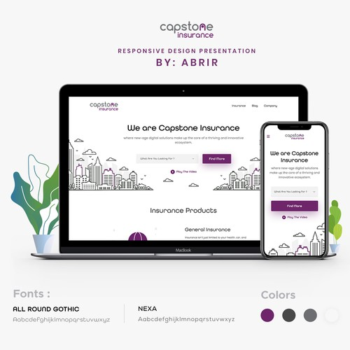 Clean Design For Insurance Brokerage Firm