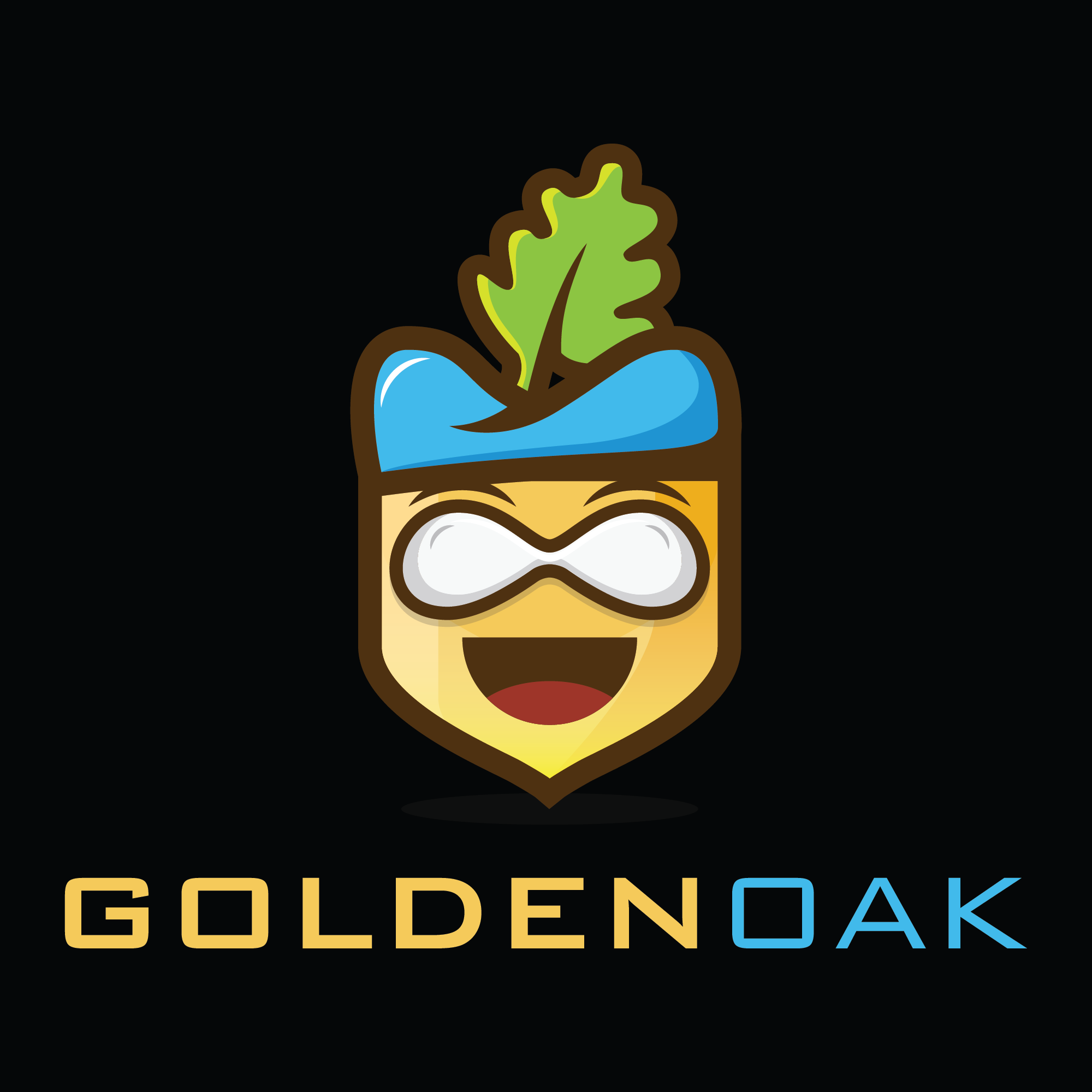 You are free for your ideas. Create a new logo for golden oak company