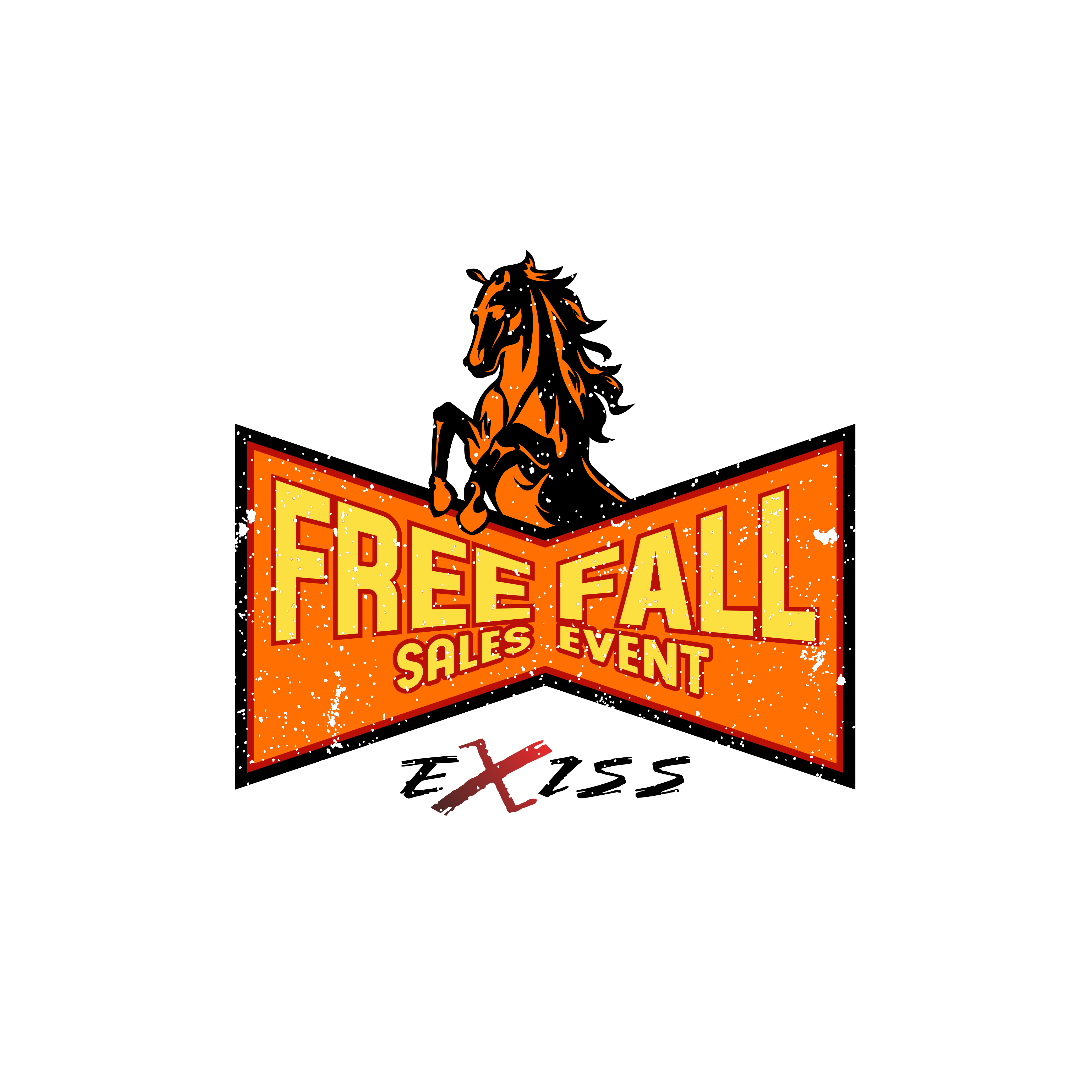 Design a Youthful & Aggressive Free Fall Sales Event Logo