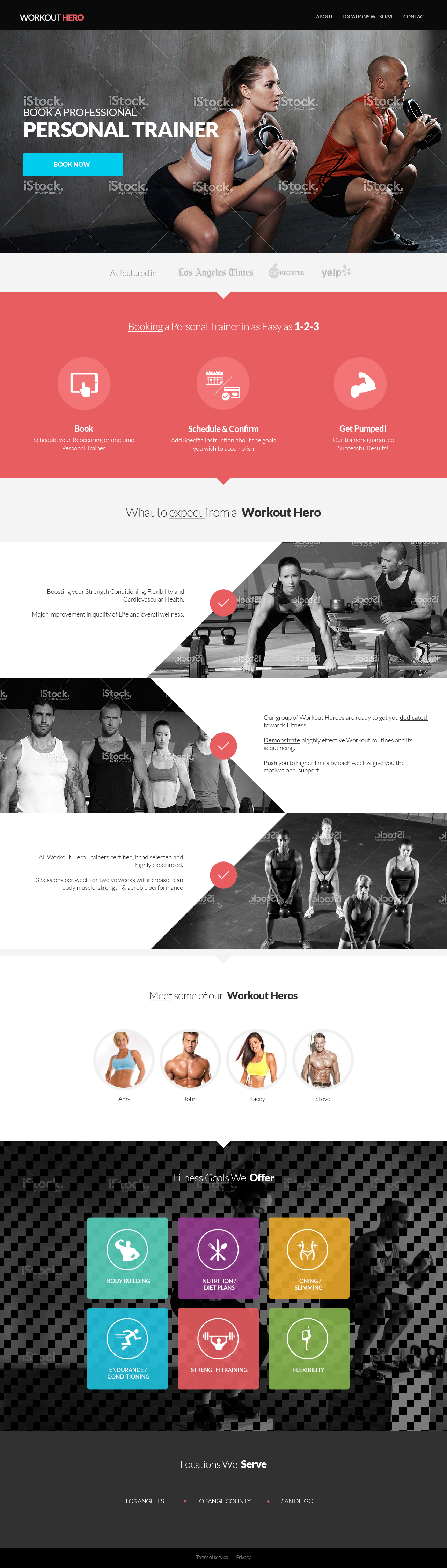 Personal Training Services. WIREFRAME and CONTENT provided =)