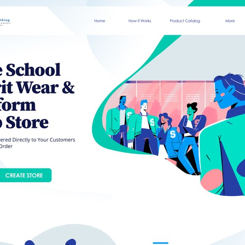 "Landing page ""The Future of School Apparel"""