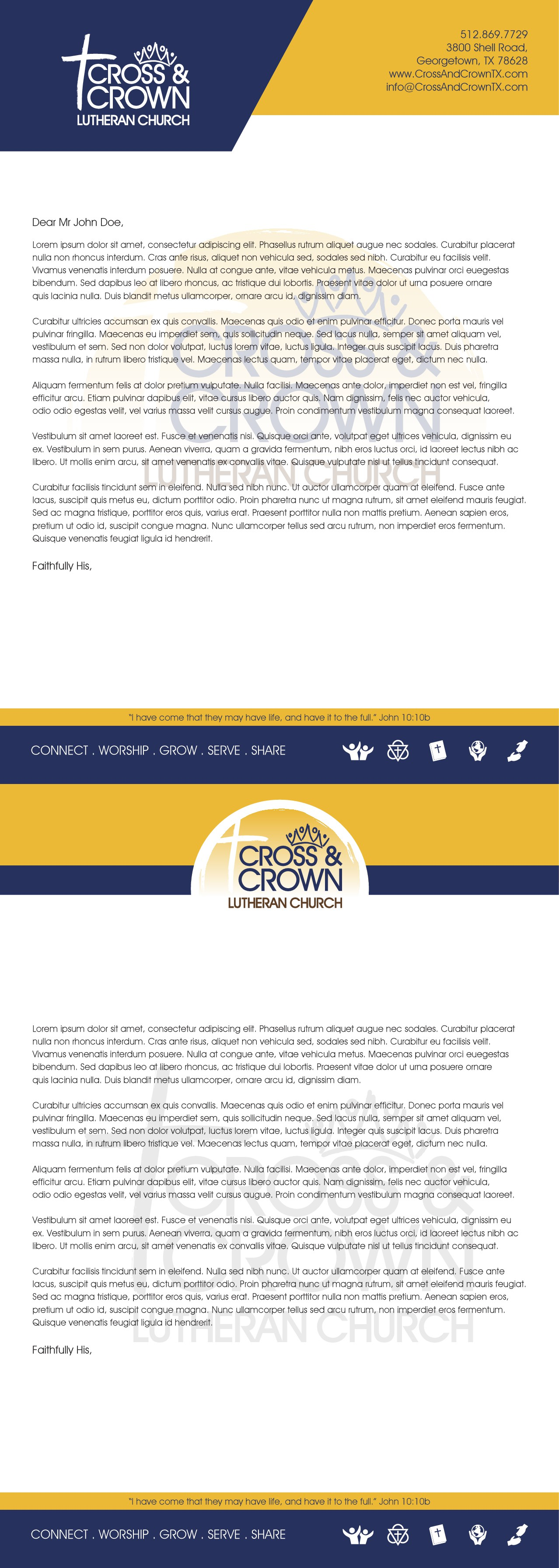 Creative and Eye Catching Non-Profit Brand Look (starting with Letterhead and Biz Card)