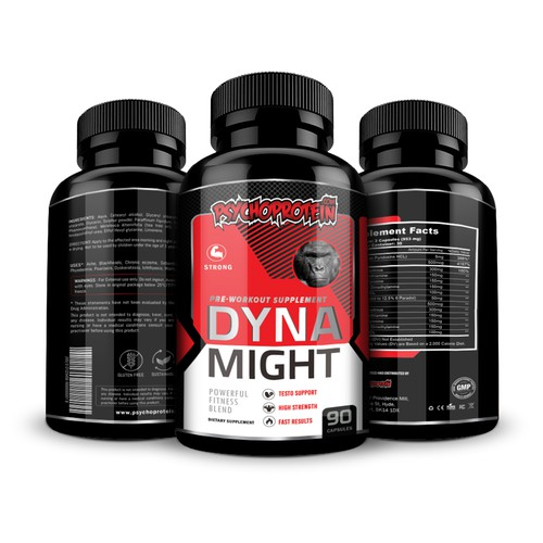Pre-workout supplement label design