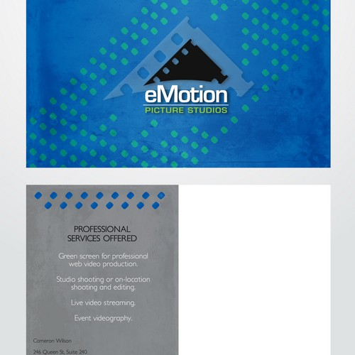 Postcard Design for Video Production Company