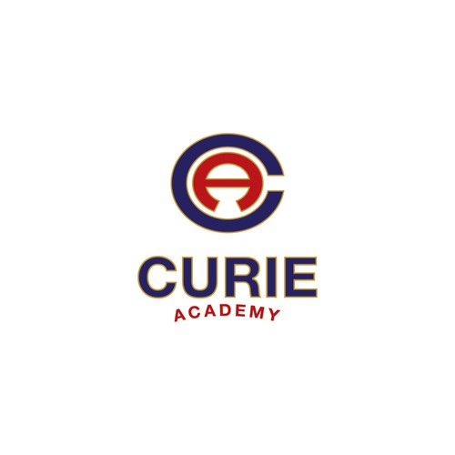 Logo design concept for Curie Academy