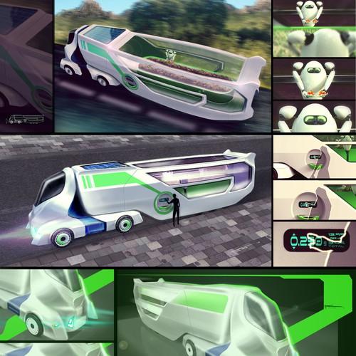 Concept art: future food truck