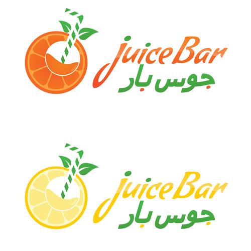 "Create a refreshing and joyful logo illustration for ""Juice Bar""!"