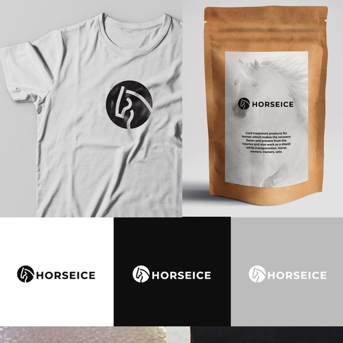 t Design logo for the start up company HORSEICE -cold treatment device for horses