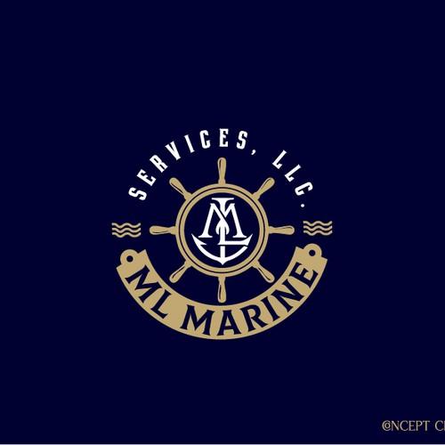 Monogram logo for marine company