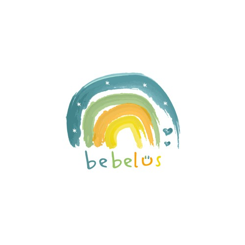 Rainbow logo for a baby and kids line