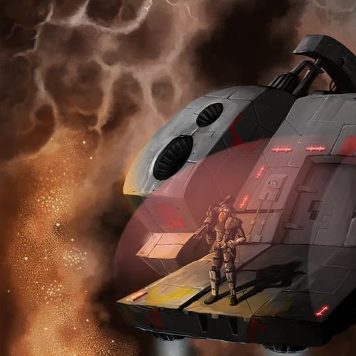 Sci fi illustration for Future Fantasy Publishing
