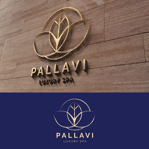 Elegant, rustic logo for luxury spa.