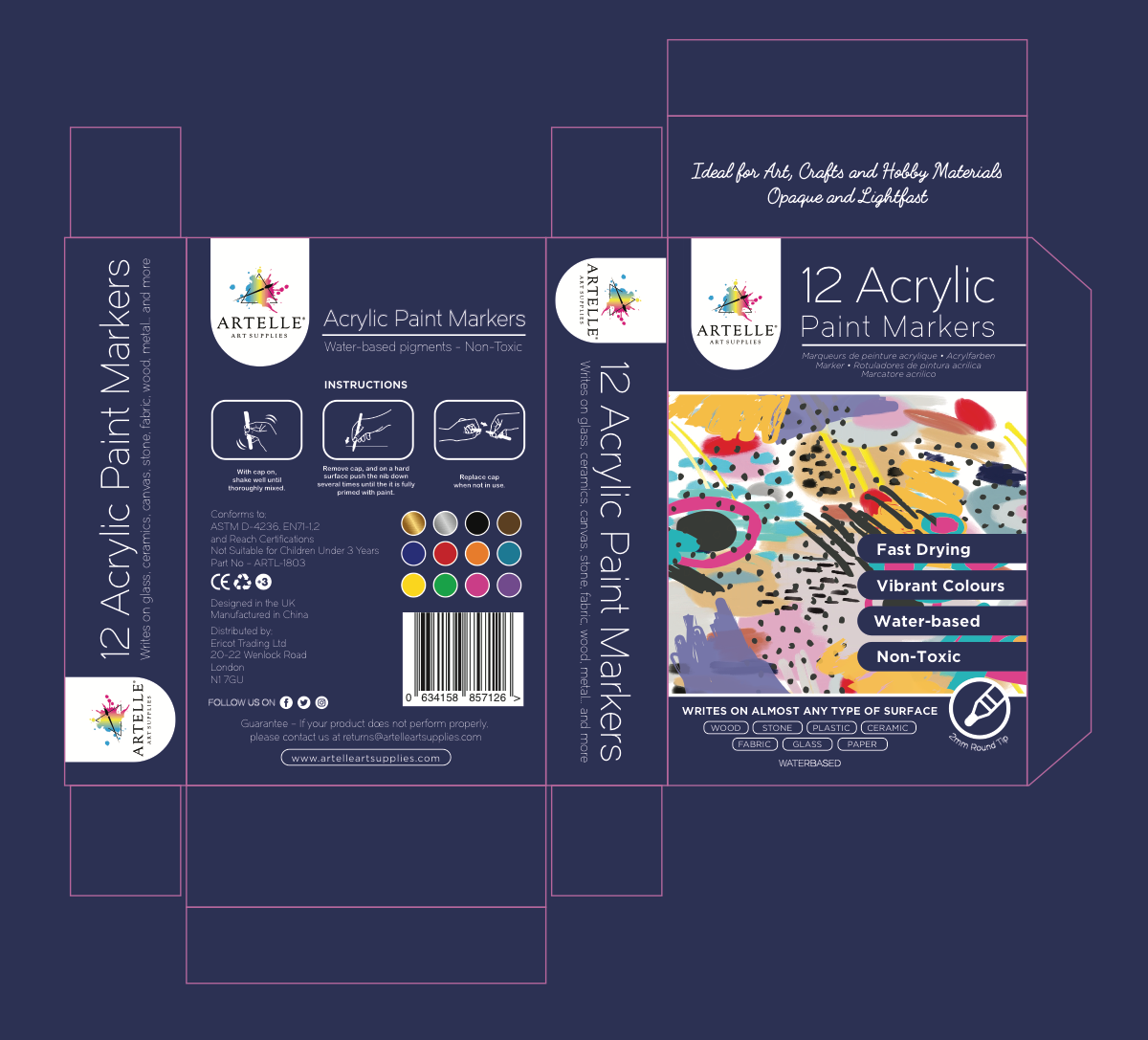 Packaging for Acrylic Paint Markers