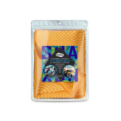 Bold packaging designs needed for industry leading Micro fiber cloths!