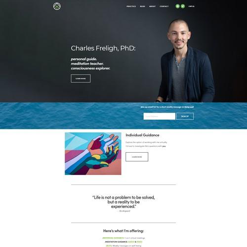 Website Design for Charles Freligh
