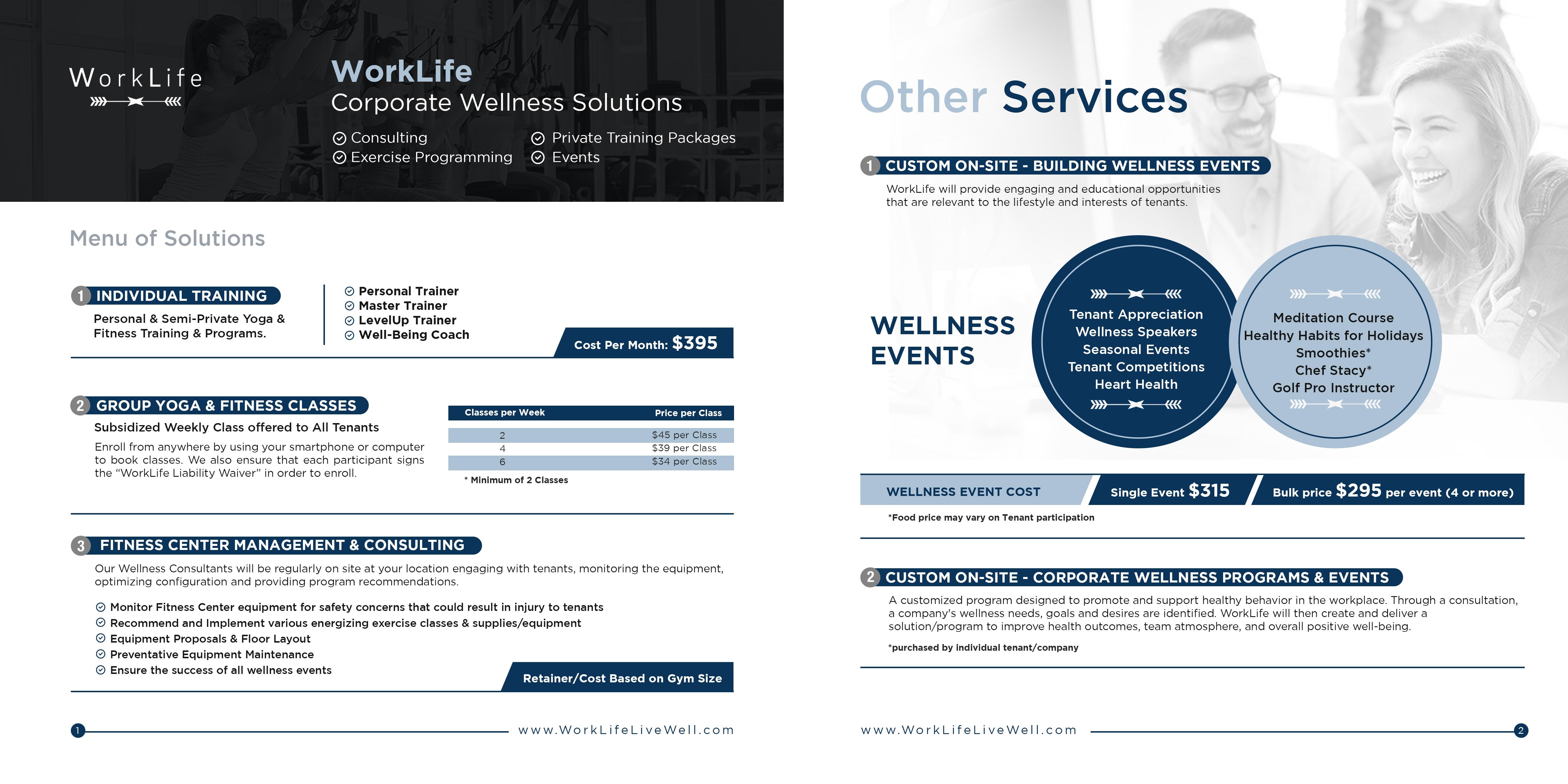 Design Brochure for Corp. Wellness Co. WorkLife