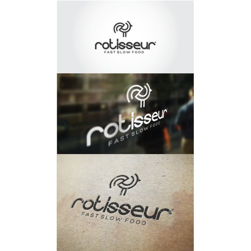 Cool Urban take out restaurant, Rotisseur, needs a new logo!