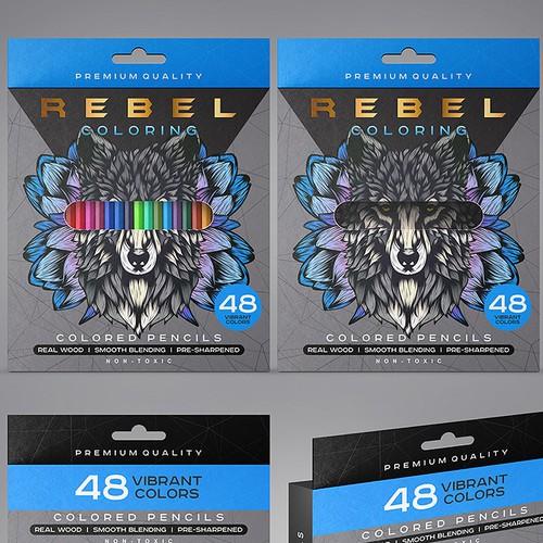 Designs coloring pencil box Rebel Coloring