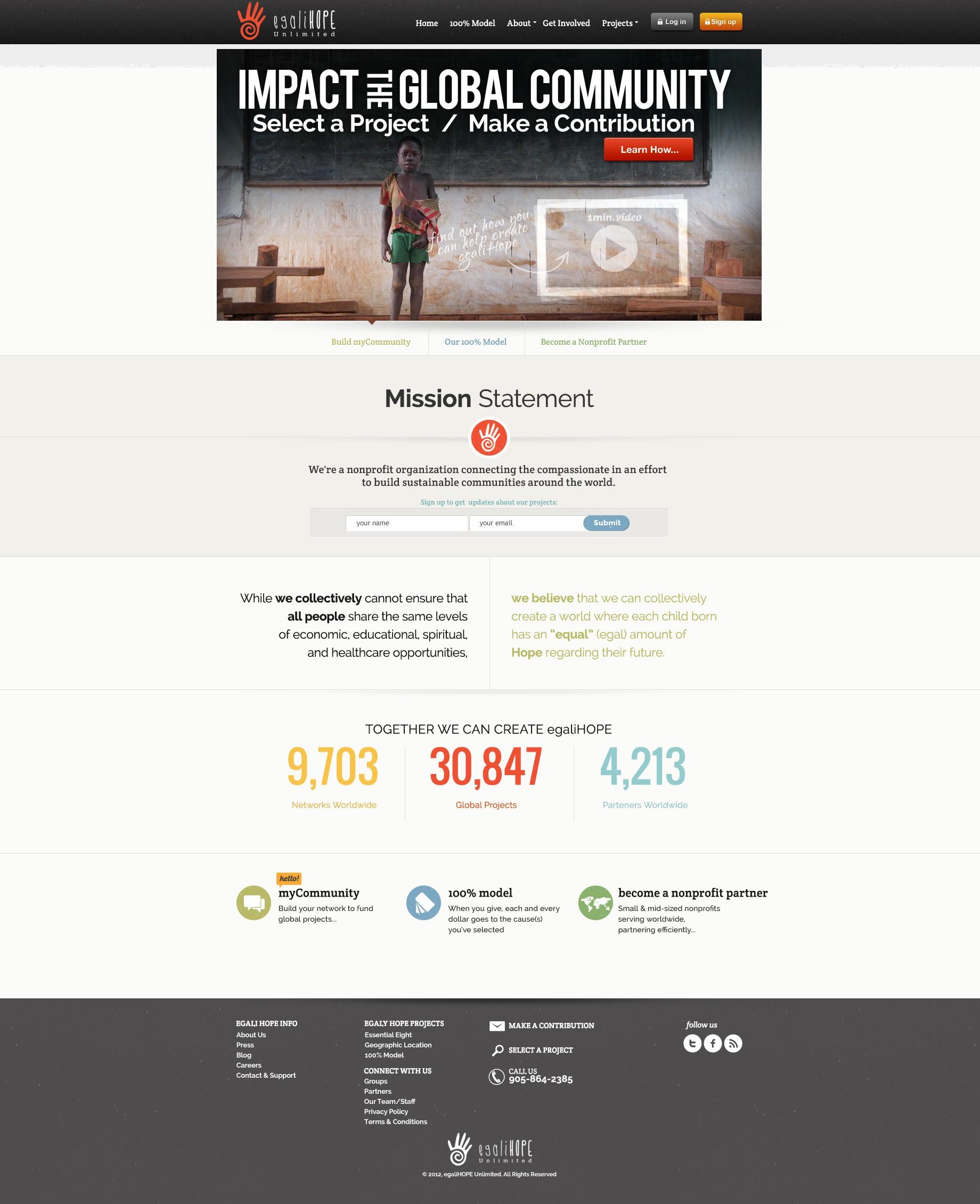egaliHope Unlimited needs a new website design