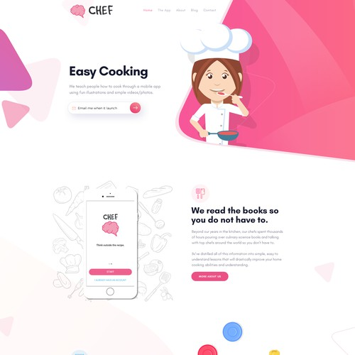 Cooking App Web Design