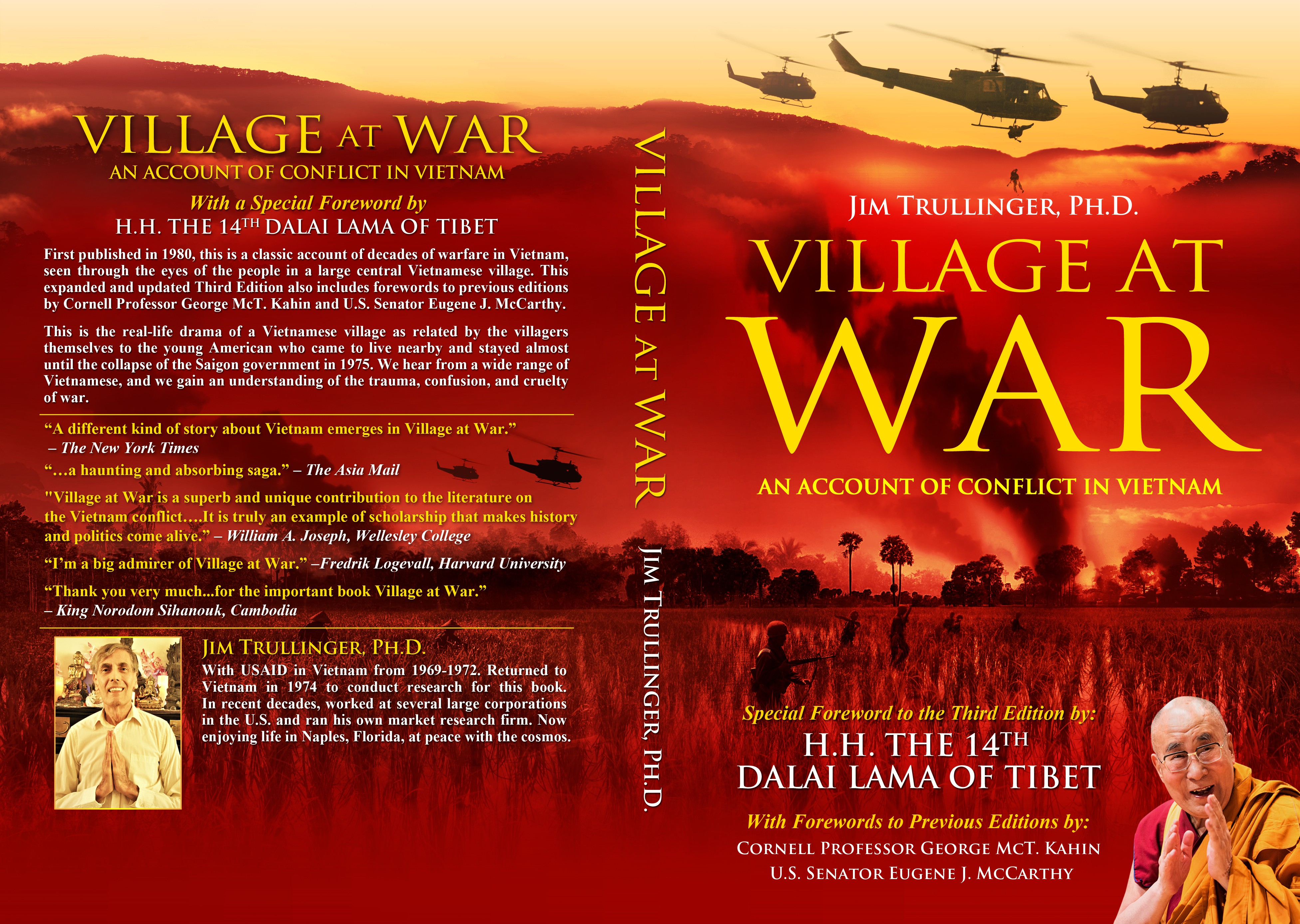 Cover for Third Edition of Classic Work on the Vietnam War. Special Foreword by H.H. the Dalai Lama.