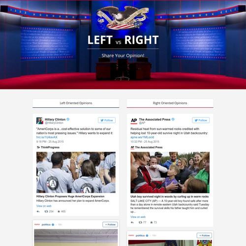 Left vs Right political opinion.
