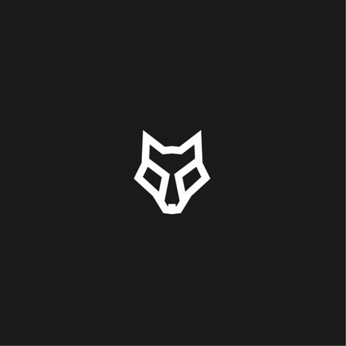 Simple wolf head logo