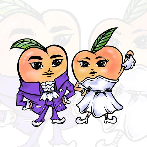 Peach mascot