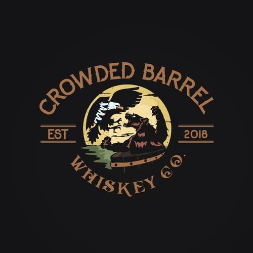Illustrative whiskey logo