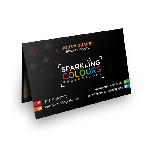 Logo & Business card for Sparkling Colours Photography