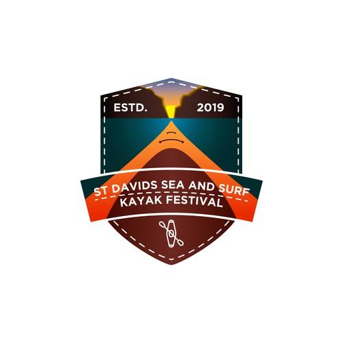Landscape badge for St Davids Sea and Surf Kayak Festival