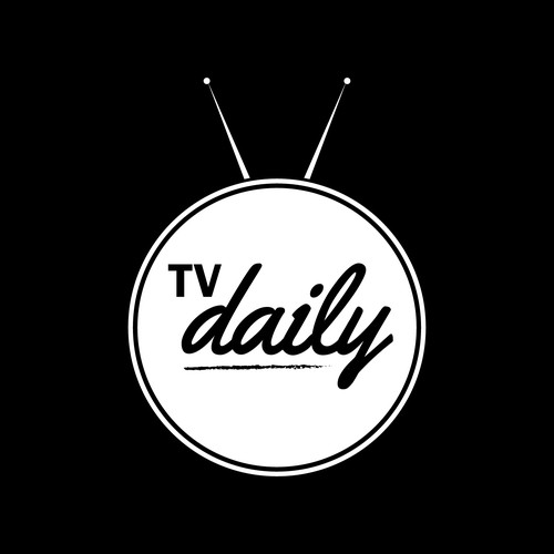 Create a simple logo for TV Daily - TV and film news site