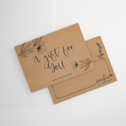 Hand drawing style gift card design