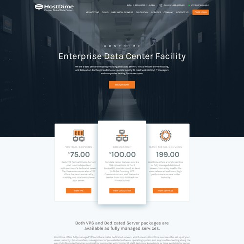Webhosting website