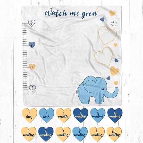 Baby milestone blanket