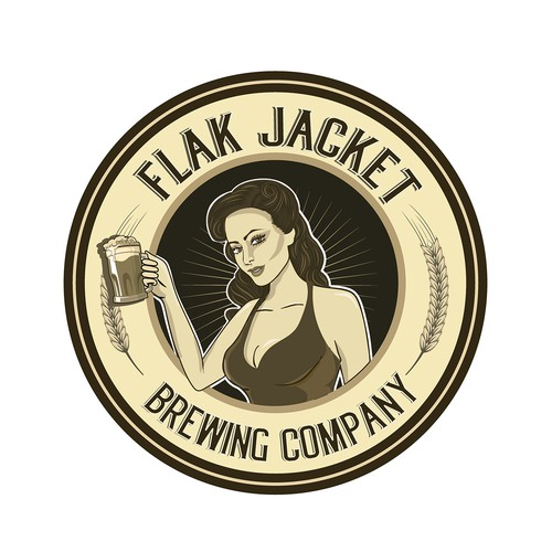 Logo for a brewing company