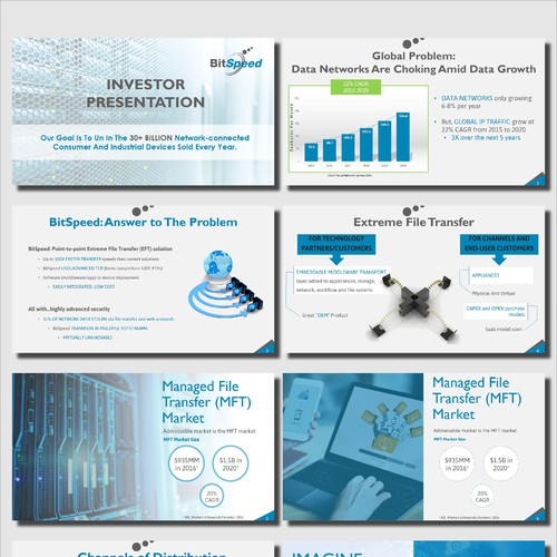 Presentation for a data network company