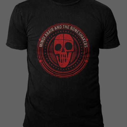 Sophisticated Skull T-Shirt for Blues Rock Band Mindi Abair & The Boneshakers