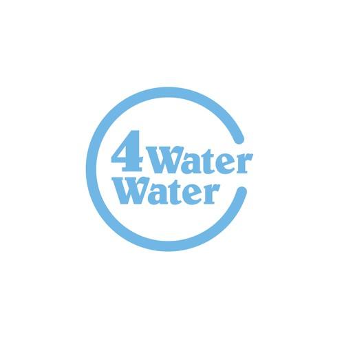klassisches Logokonzept und Visitenkarte für einen Wasseranbieter mit gutem Zweck
