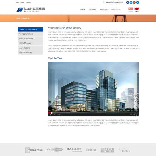 Steel wire manufacturer website redesign