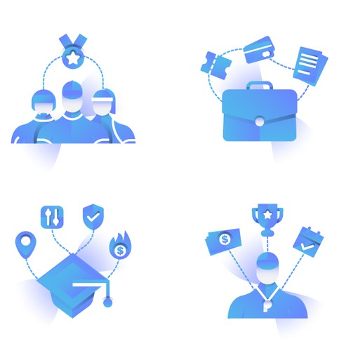 4 Icon Illustrations for Lucid Travel