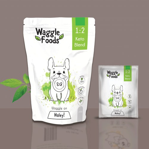 Waggle Foods Pouch Packaging 2