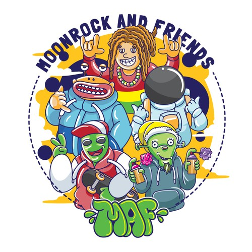 MOONROCK AND FRIENDS DESIGN