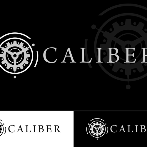 "Create a logo for ""Caliber"" a luxury watch product website"