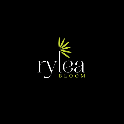 Elegant logo for flower and arts shop.