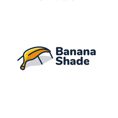 Banana-shaped Beach Canopy Logo