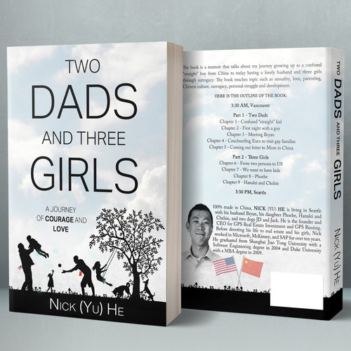 Cover design for Two Dads