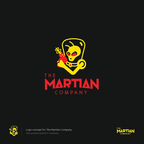 The Martian Company logo design